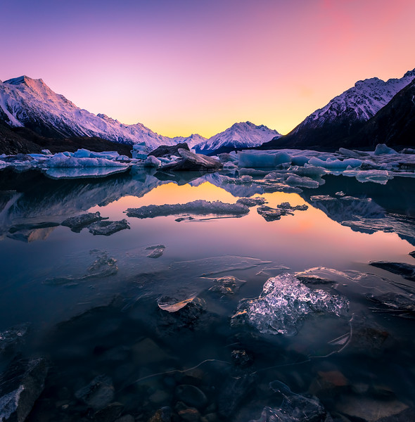 Tasman Glacier Lake Sunrise 3