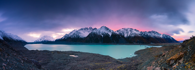 Tasman Glacier Lake Sunrise 4