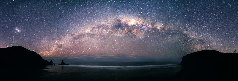 Milky Way Beach Pano