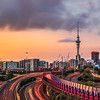 Auckland City Sunset Panorama