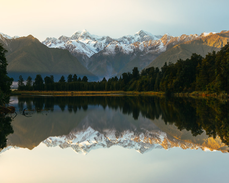 Lake Matheson Early Morning Light