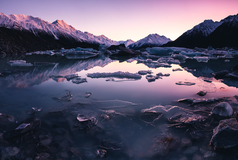 Tasman Lake Freeze