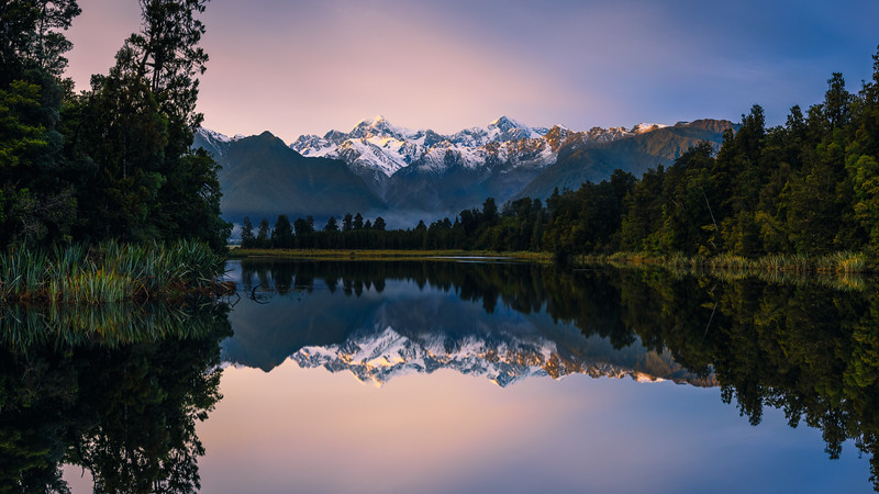 Lake Matheson Sunrise Reflection 2