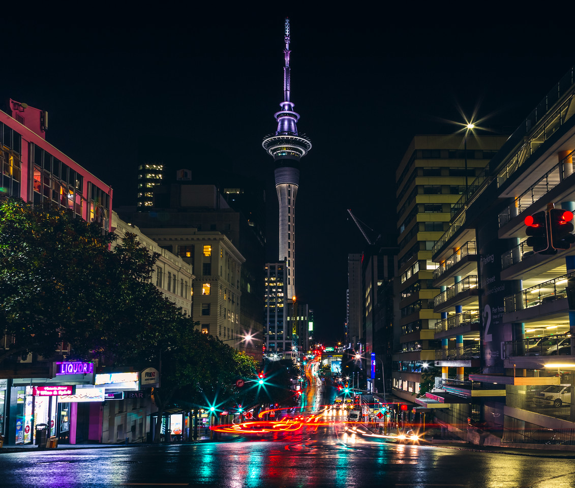Auckland City Light Trails