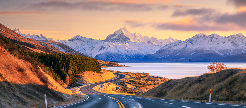 Road to Mount Cook Pano