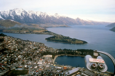 View over Queenstown, New Zealand.