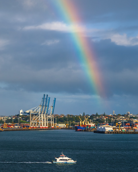 Rainbow Over Auckland