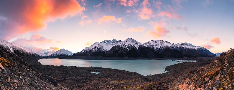 Tasman Glacier Lake Sunrise