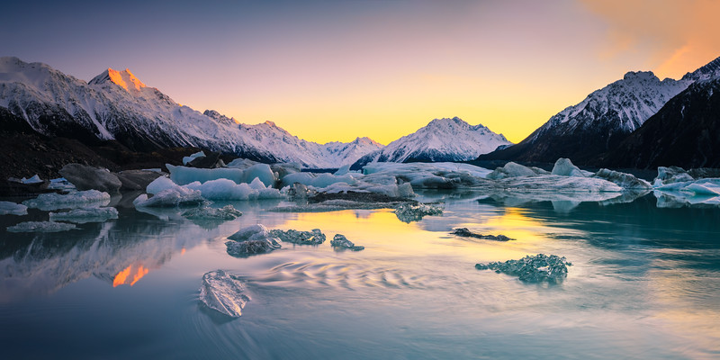 Tasman Glacier Lake Sunrise 5
