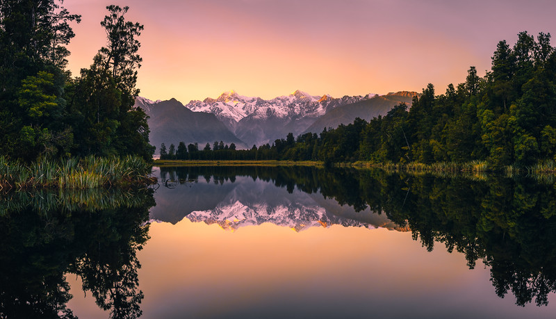 Lake Matheson Sunrise Reflection