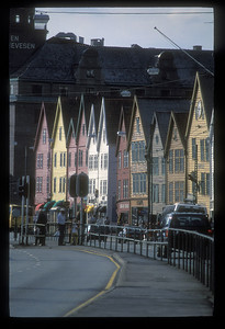 Buildings along the Bergen, Norway waterfront.