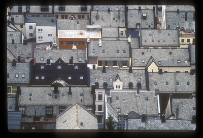 Alesund, Norway rooftops.