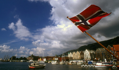 Harbor at Bergen, Norway.