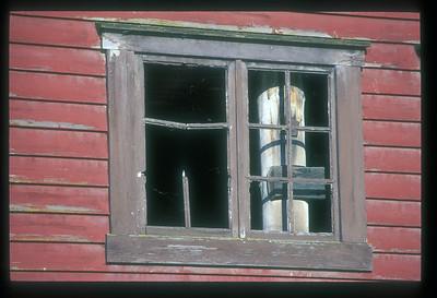 Detail of building, Trondheim, Norway.
