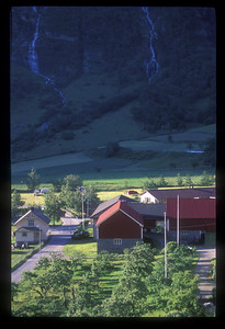 Houses near Geiranger, Norway.