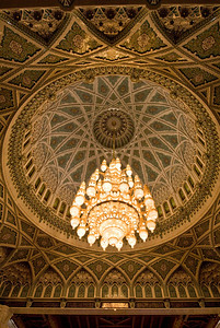 Interior of Sultan Qaboos Grand Mosque, Muscat, Oman.