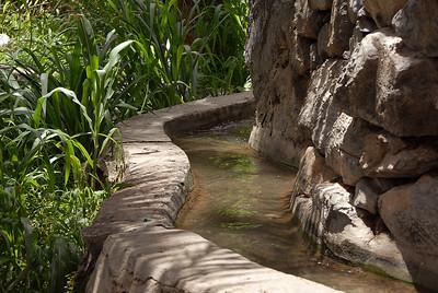 Falaj system of mini-canals, Misfat Al Abreyeen, Oman.