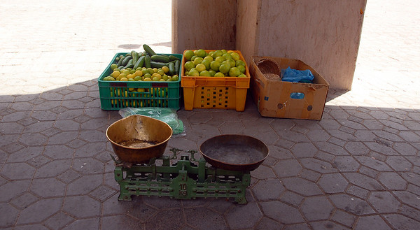Scale at market, Nizwa, Oman.