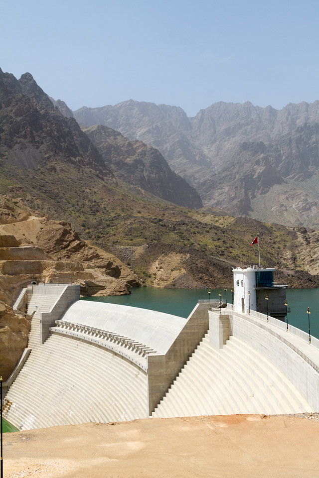 View of Wadi Dayqah Water dam - Oman