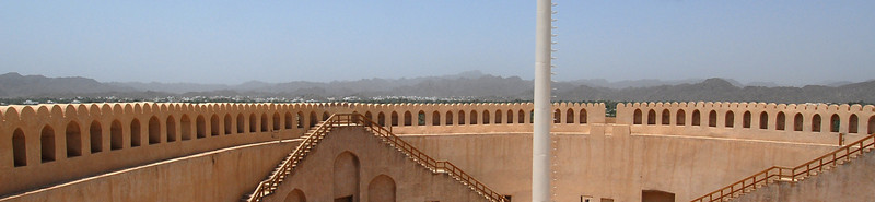Ramparts of the Nizwa fort, Nizwa, Oman.