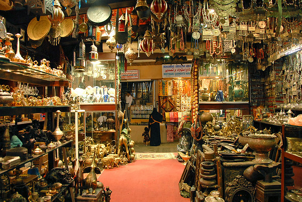 Shop at Muttrah Souk, Muttrah, Oman.