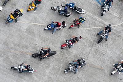 Bikers in Panama City, Panama.