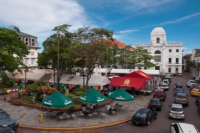 Cathedral Square, Casco Viejo, Panama City, Panama.
