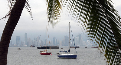 Skyline from along the Amador Causeway, Panama City, Panama.