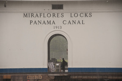 At the Panama Canal.