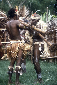 Traditional ceremony, Sepik River, Papua New Guinea.