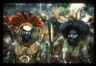 Participants in the annual Goroka Show tribal dance festival, Goroka, Papua New Guinea.