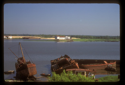 The shore of the Paraguay River in Asuncion, Paraguay.