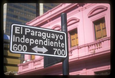 Street sign, Asuncion, Paraguay.