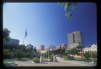 City park in downtown Asuncion, Paraguay.