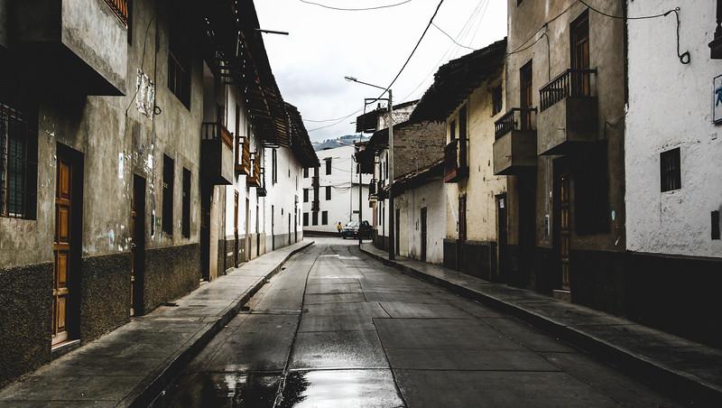 Damp Street of Cajamarca