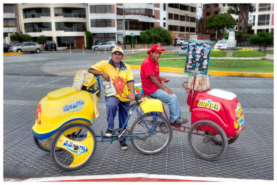 Ice Cream Men, Miraflores District of Lima, Peru.