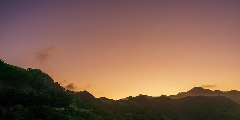 Batan 22: Sunset over Mt Matarem