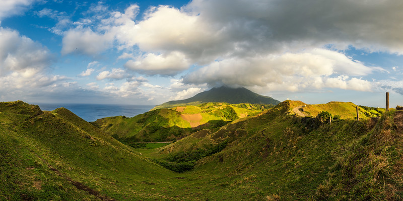 Batan 16: Mt Iraya seen from the Rolling Hills