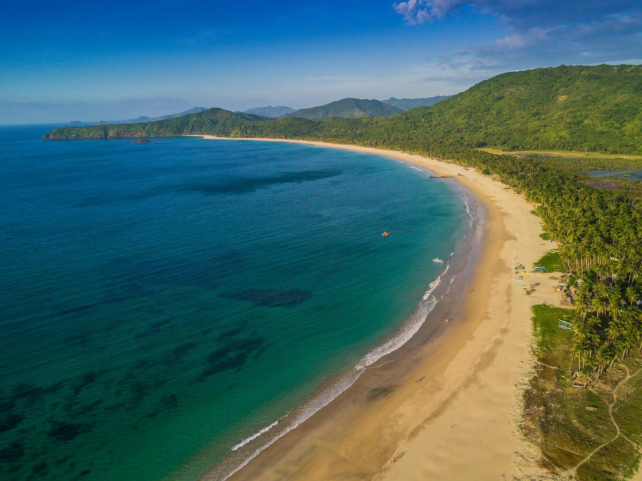 El Nido (aerial) - at Nacpan beach