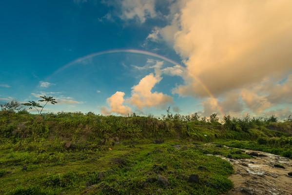 Mayon rainbow