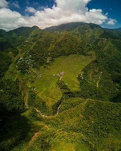 Batad, Philippines (aerial panorama)