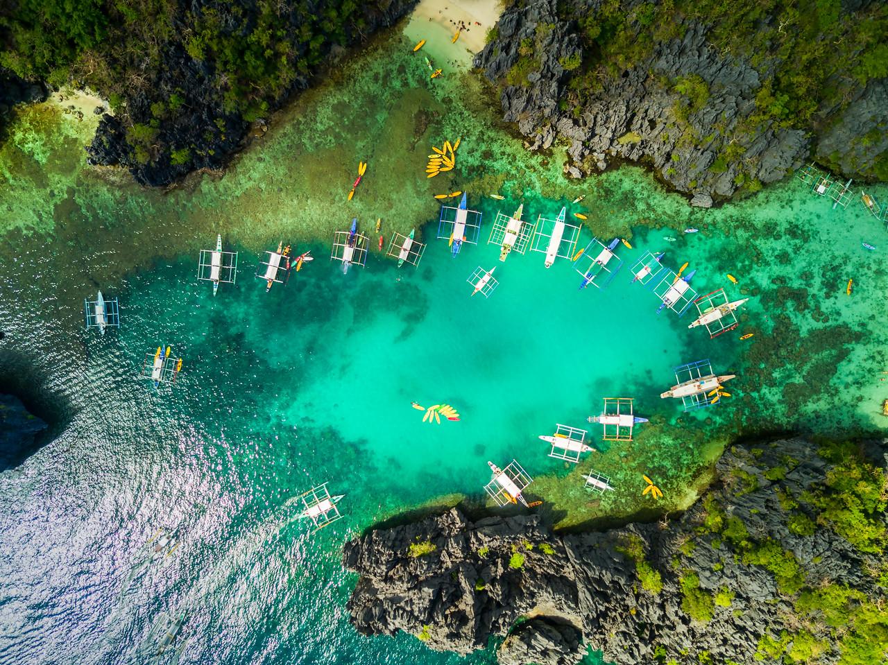 El Nido (aerial) - Island hopping
