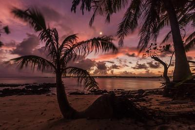 Sunset at Guyam island