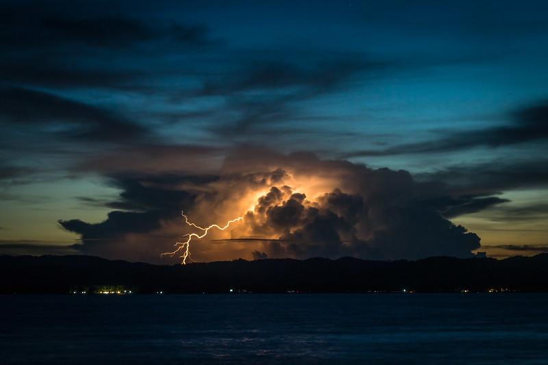 Lightning storm at Siargao