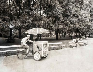 Ice cream boy, Warsaw, Poland.