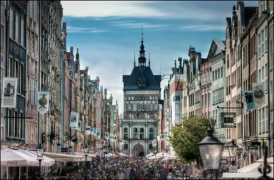 Dluga Street, Gdansk, Poland.