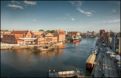 The waterfront at Gdansk, Poland.