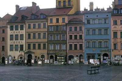 The rebuilt Old City, Warsaw, Poland.