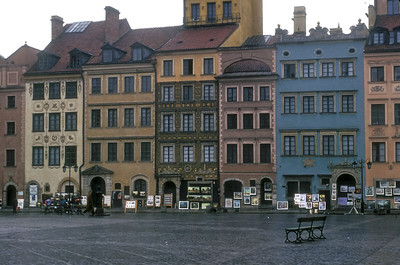 The rebuilt Old City, Warsaw, Poland.