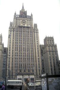 Stalin's gift to Warsaw, Poland, 1991.